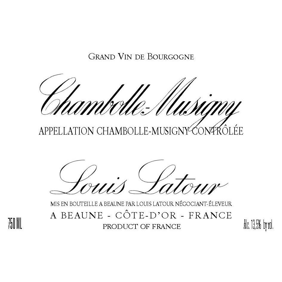 Louis Latour Chambolle-Musigny 2015 Front Label