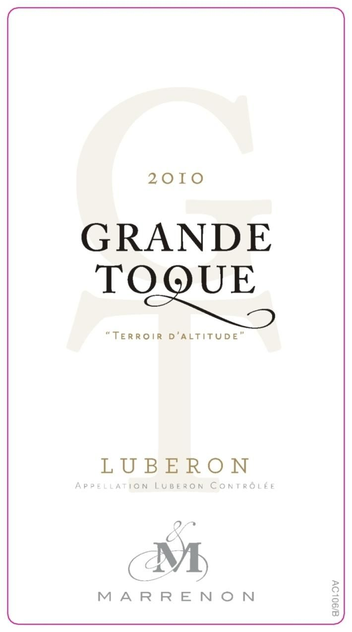 Marrenon  Luberon Grande Toque Terroir d'Altitude Blanc 2010 Front Label