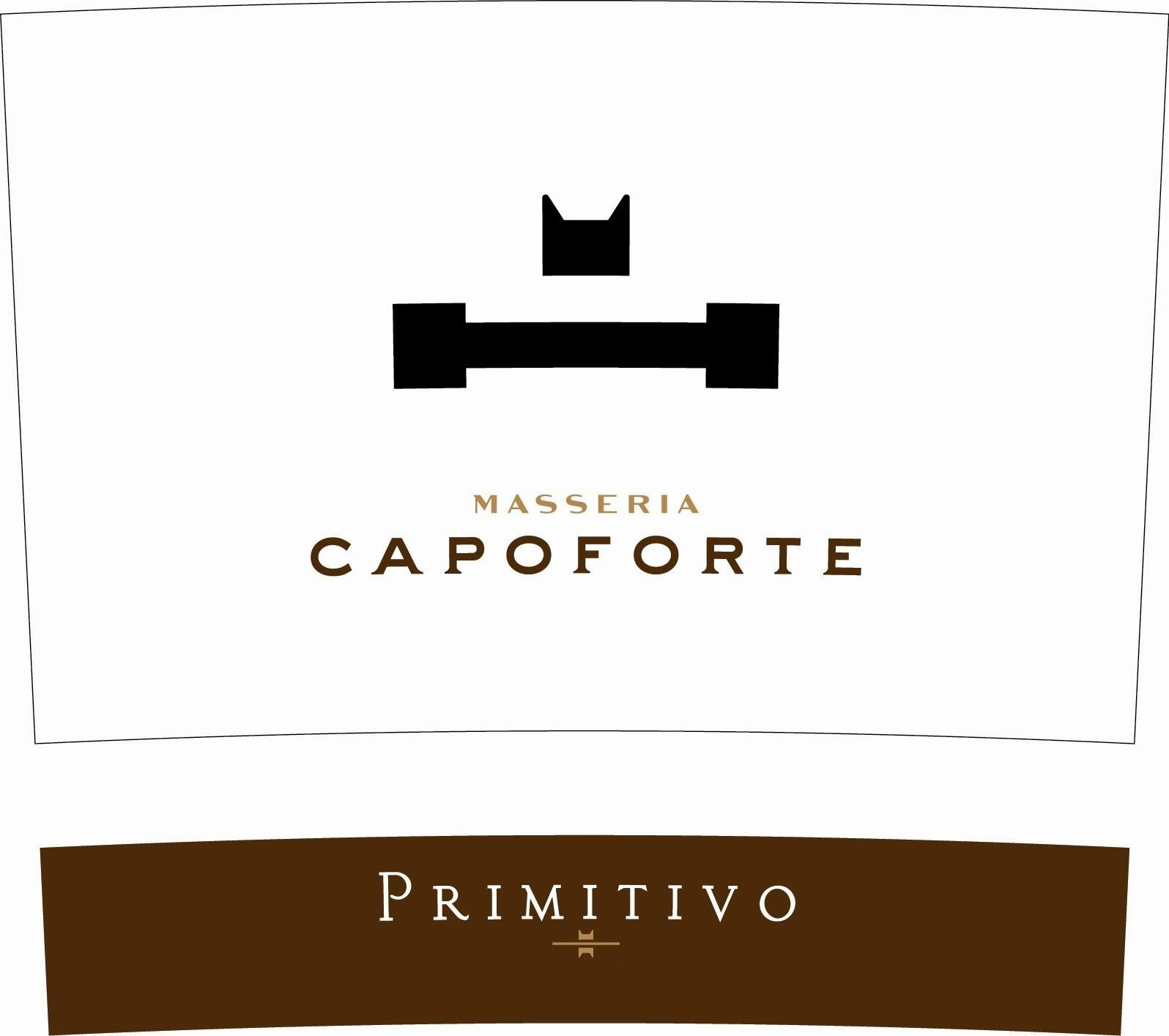 Masseria Capoforte Salento Primitivo 2010 Front Label