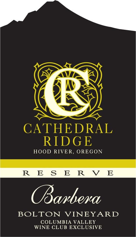 Cathedral Ridge Winery Barbera Reserve 2014 Front Label