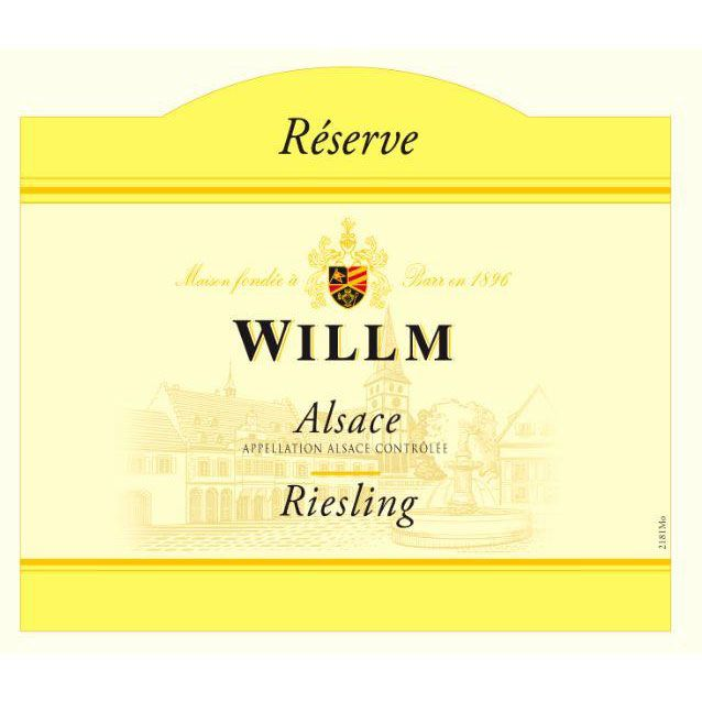 Alsace Willm Riesling Reserve (375ML half-bottle) 2016 Front Label