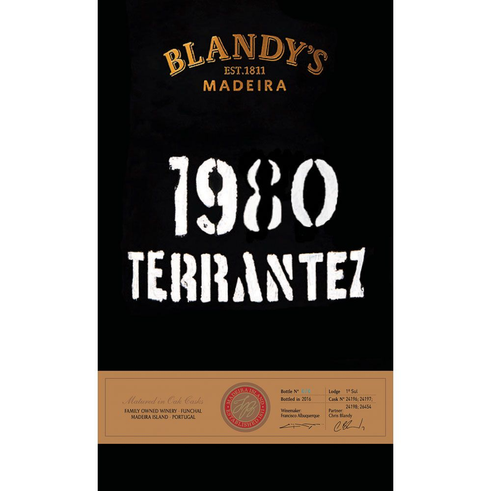 Blandy's Terrantez 1980 Front Label