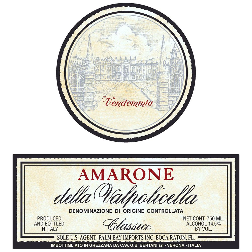 Bertani Amarone Classico 2008 Front Label