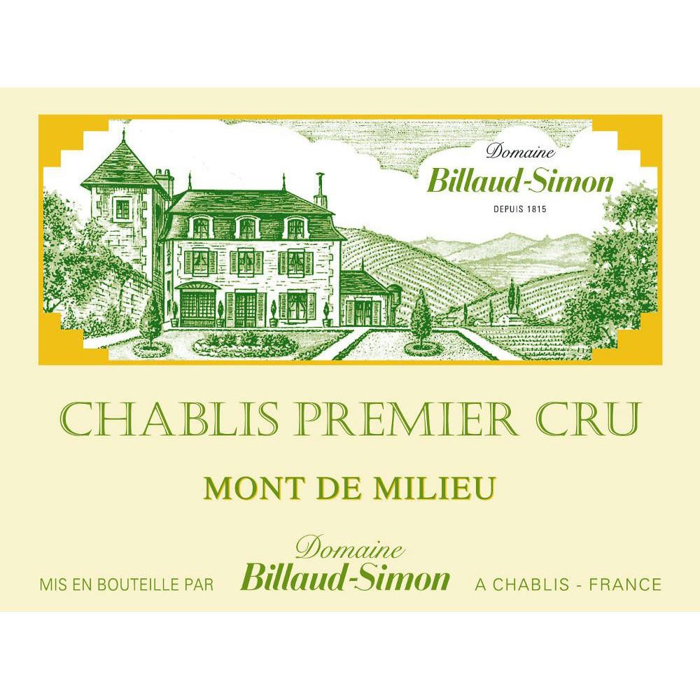 Billaud-Simon Chablis Mont de Milieu Premier Cru (375ML half-bottle)  2015 Front Label