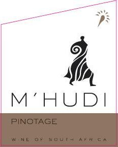 M'hudi Wines Pinotage 2010 Front Label