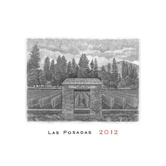 Abreu Vineyards Las Posadas Howell Mountain 2012 Front Label