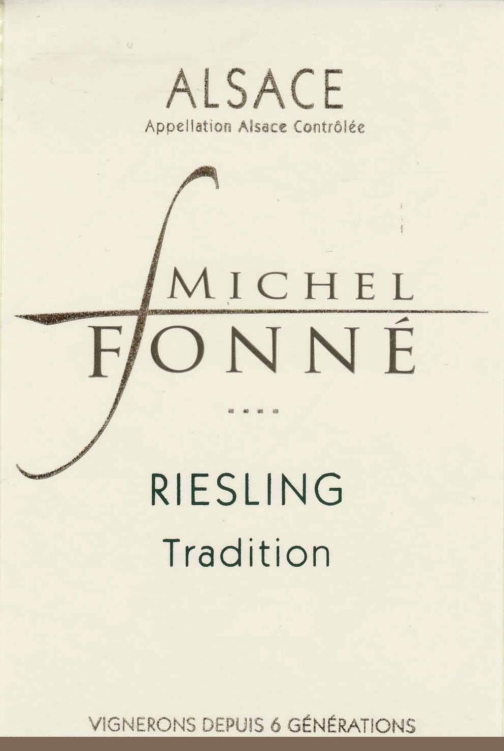 Michel Fonne Alsace Riesling 2010 Front Label