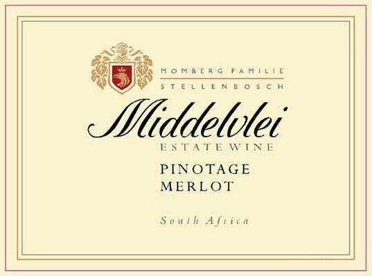 Middelvlei Wines Pinotage Merlot 2008 Front Label