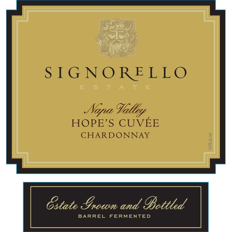 Signorello Hope's Cuvee Chardonnay 2016 Front Label