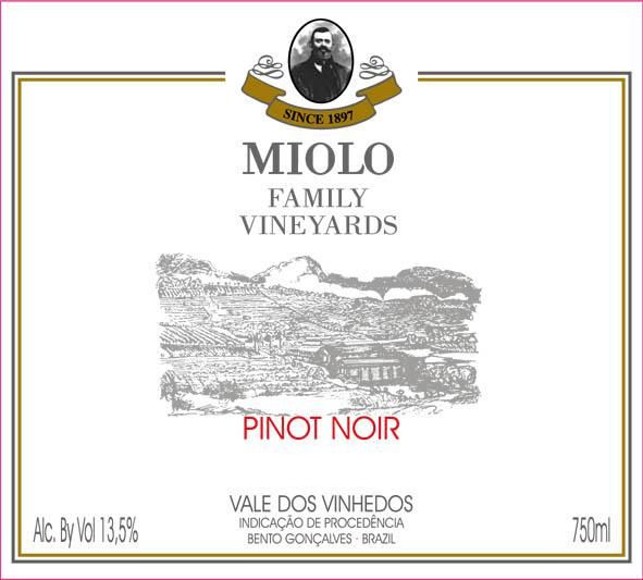 Miolo Wine Group Family Vineyards Pinot Noir 2015 Front Label