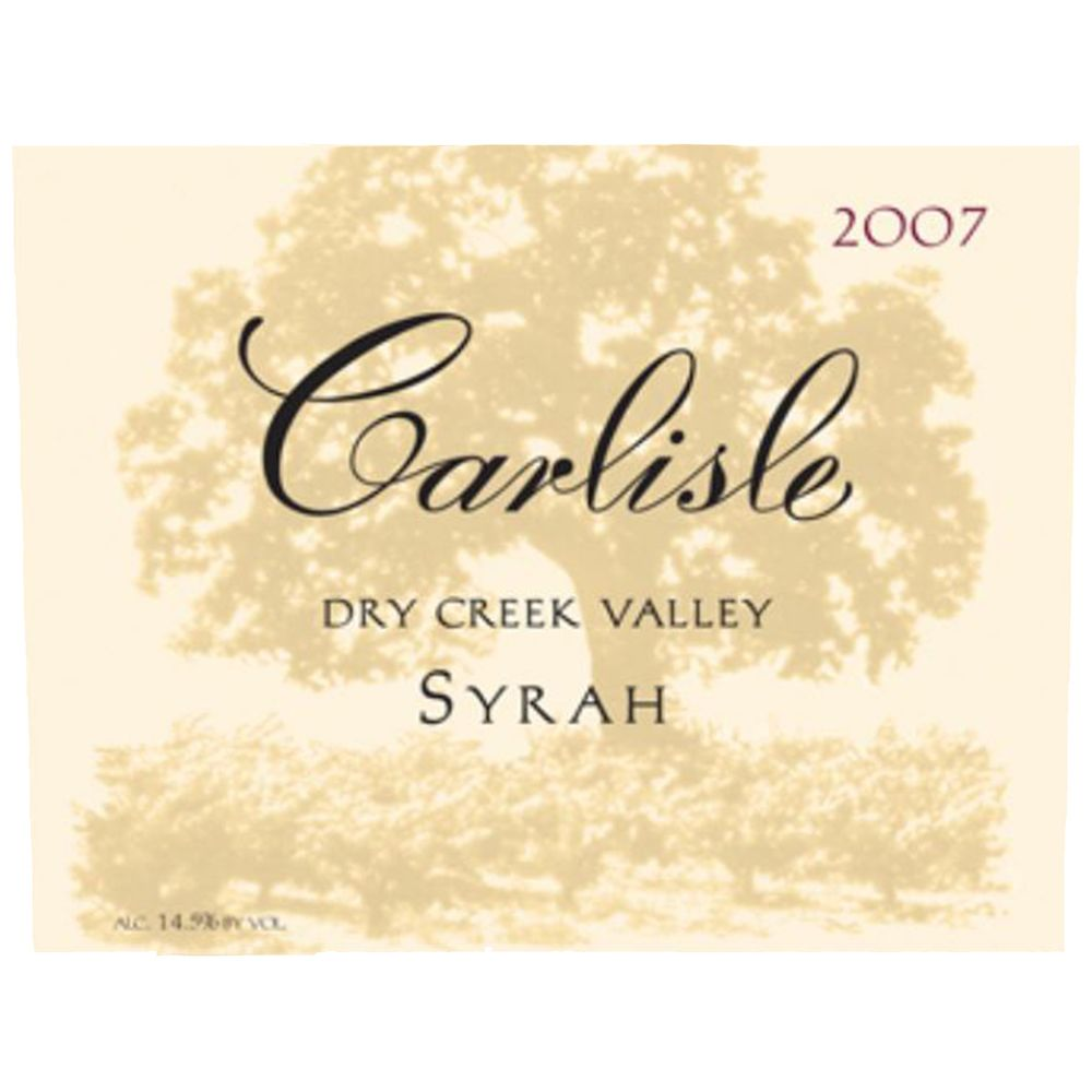 Carlisle Dry Creek Valley Syrah 2007 Front Label