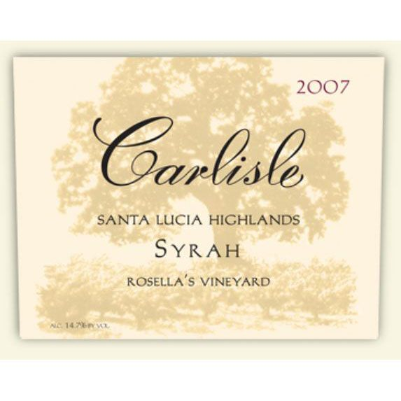 Carlisle Santa Lucia Highlands Rosella's Vineyard Syrah 2007 Front Label
