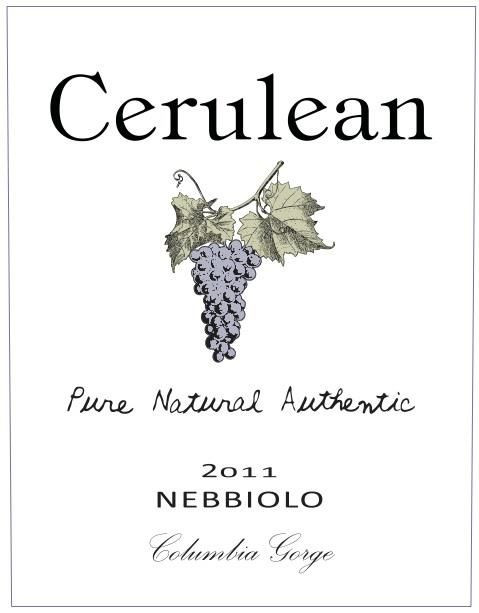 Cerulean Skies Wine Nebbiolo 2011 Front Label