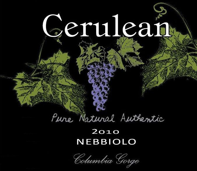 Cerulean Skies Wine Nebbiolo 2010 Front Label