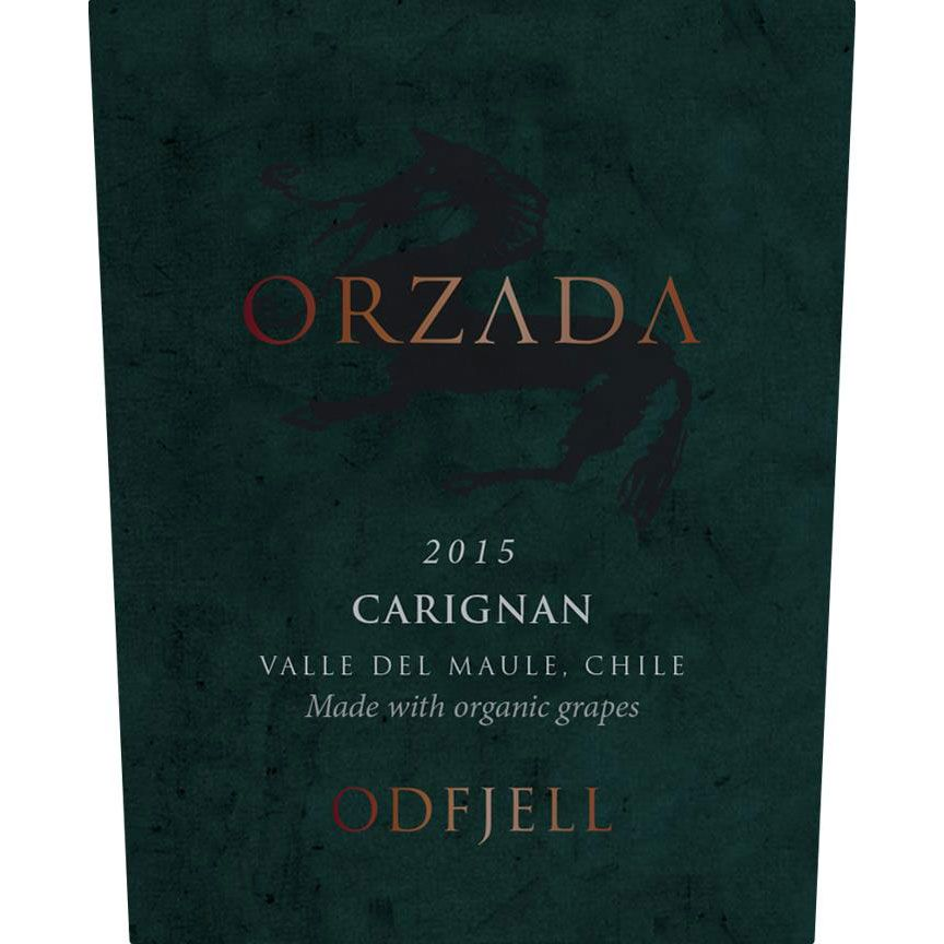 Odfjell Orzada Organic Carignan 2015 Front Label