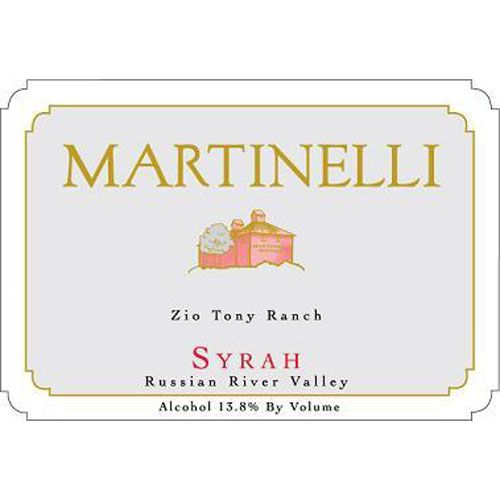 Martinelli Zio Tony Ranch Syrah 2006 Front Label