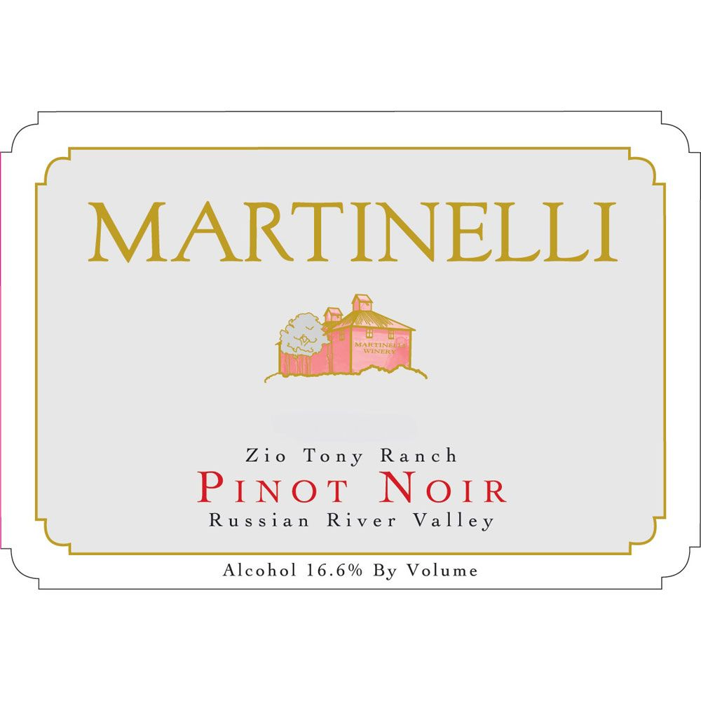 Martinelli Zio Tony Ranch Pinot Noir 2007 Front Label