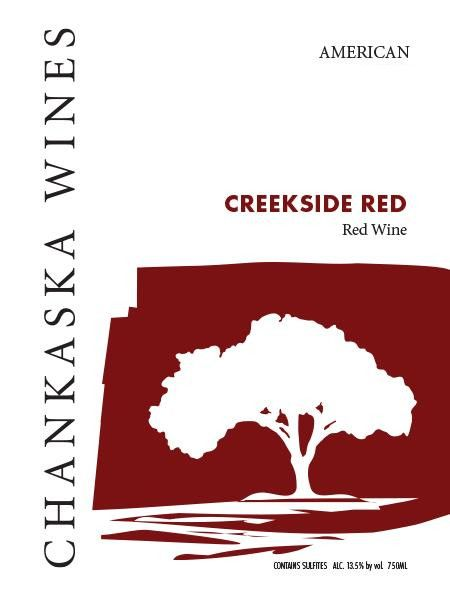 Chanskaska Wines Creekside Red 2013 Front Label