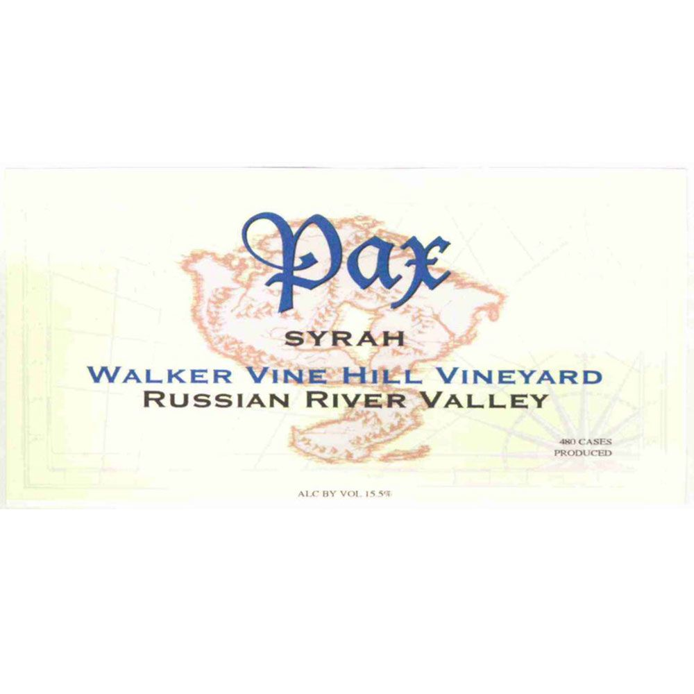 Pax Walker Vine Hill Syrah 2006 Front Label