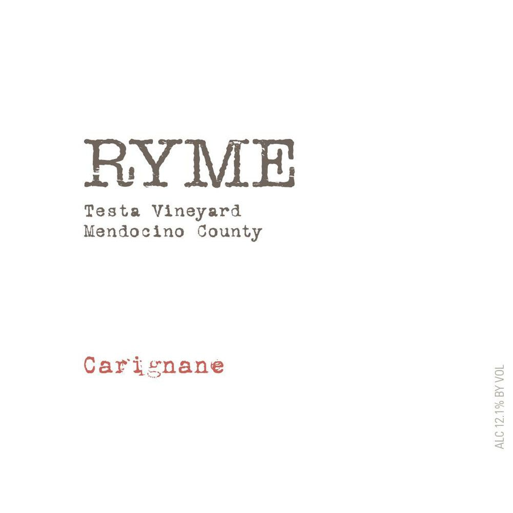 Ryme Testa Vineyard Carignan 2015 Front Label