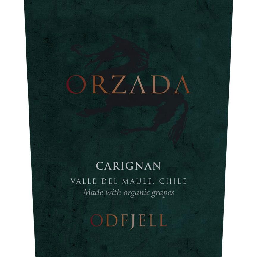 Odfjell Orzada Organic Carignan 2016 Front Label