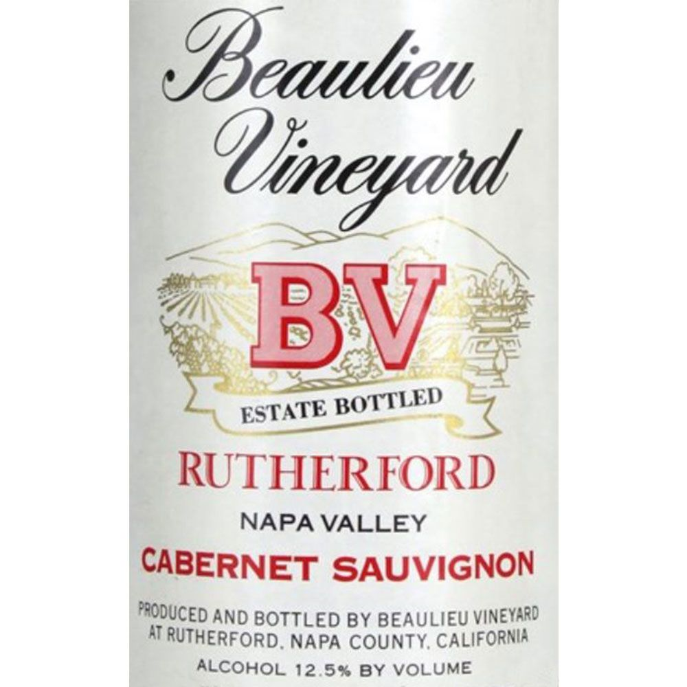 Beaulieu Vineyard Rutherford Cabernet Sauvignon 1984 Front Label