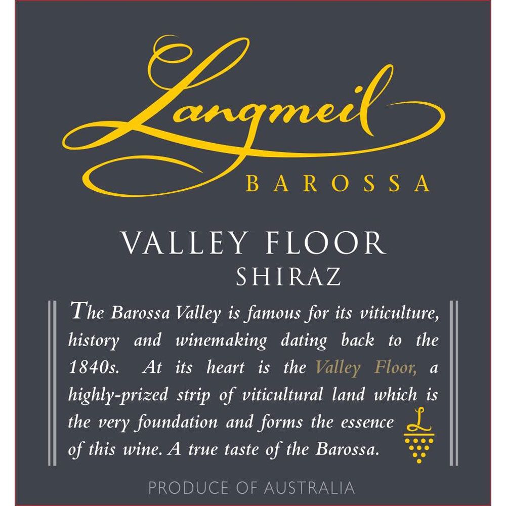 Langmeil Valley Floor Shiraz 2014 Front Label