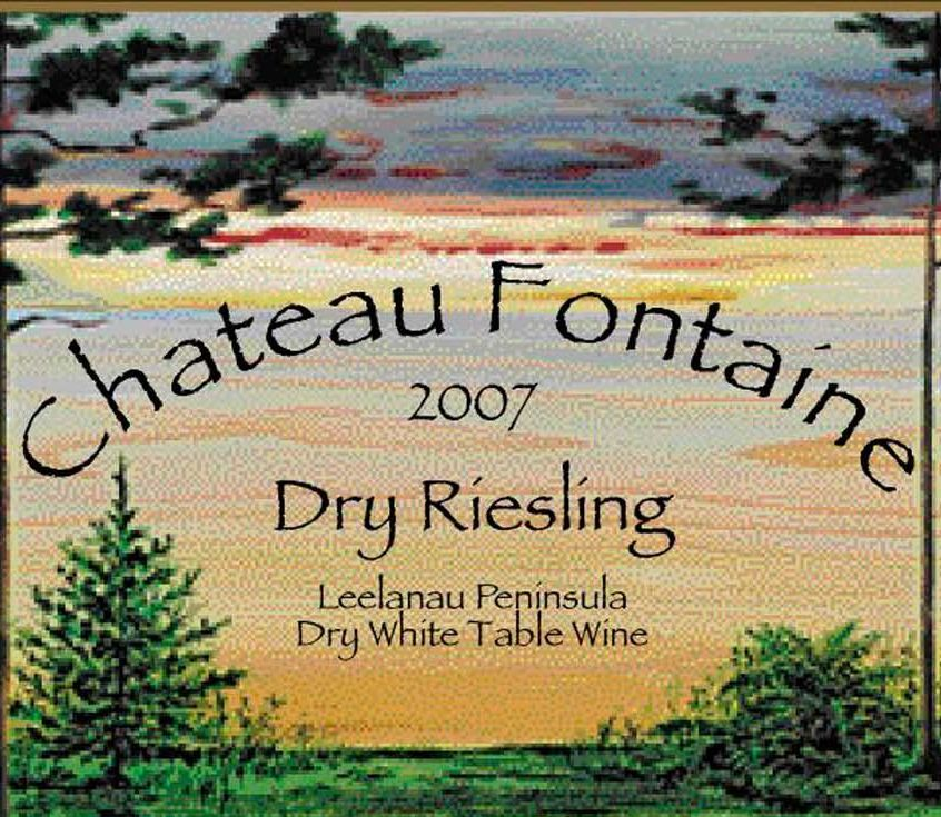 Chateau Fontaine Dry White Riesling 2007 Front Label
