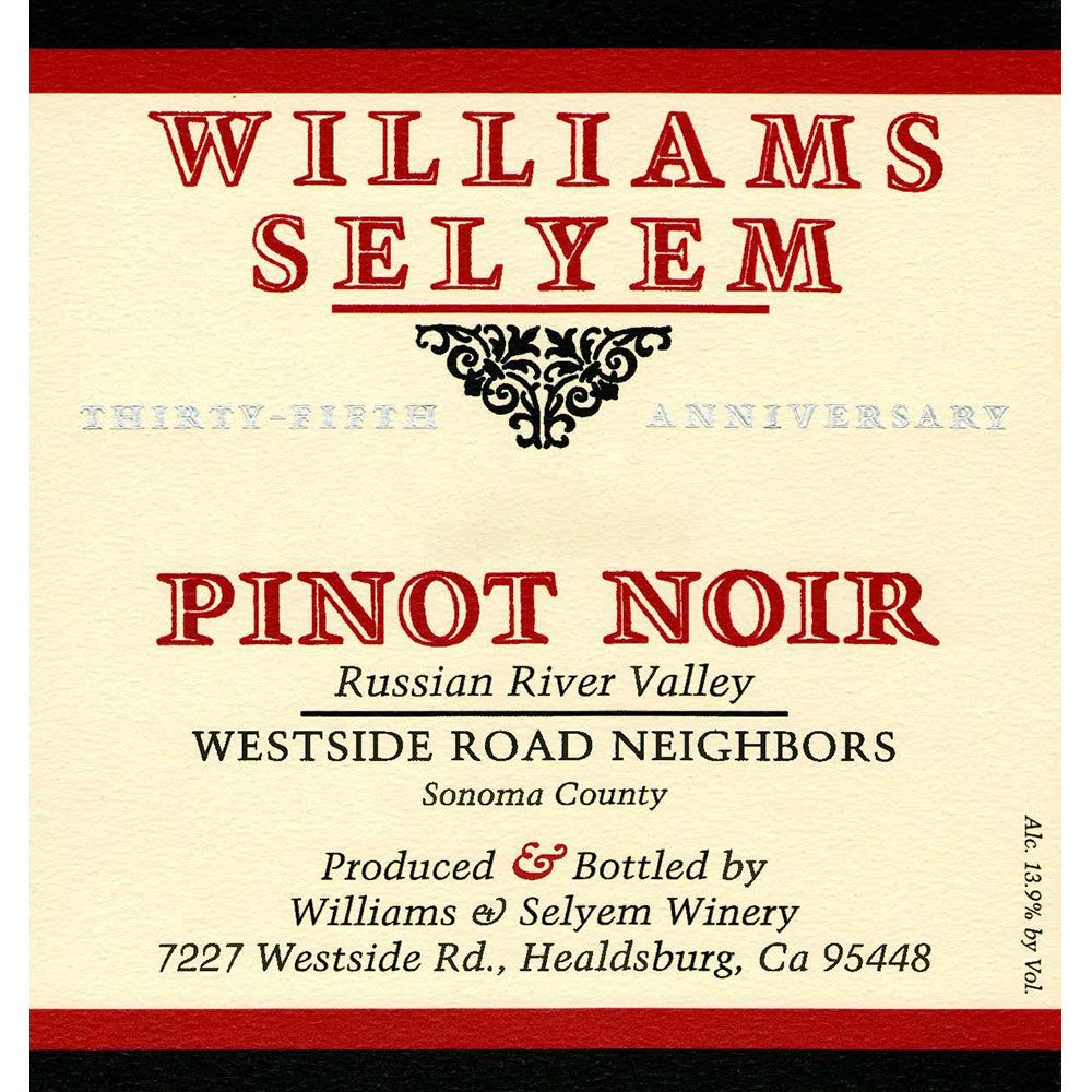 Williams Selyem Westside Road Neighbors Pinot Noir (1.5L Magnum) 2012 Front Label