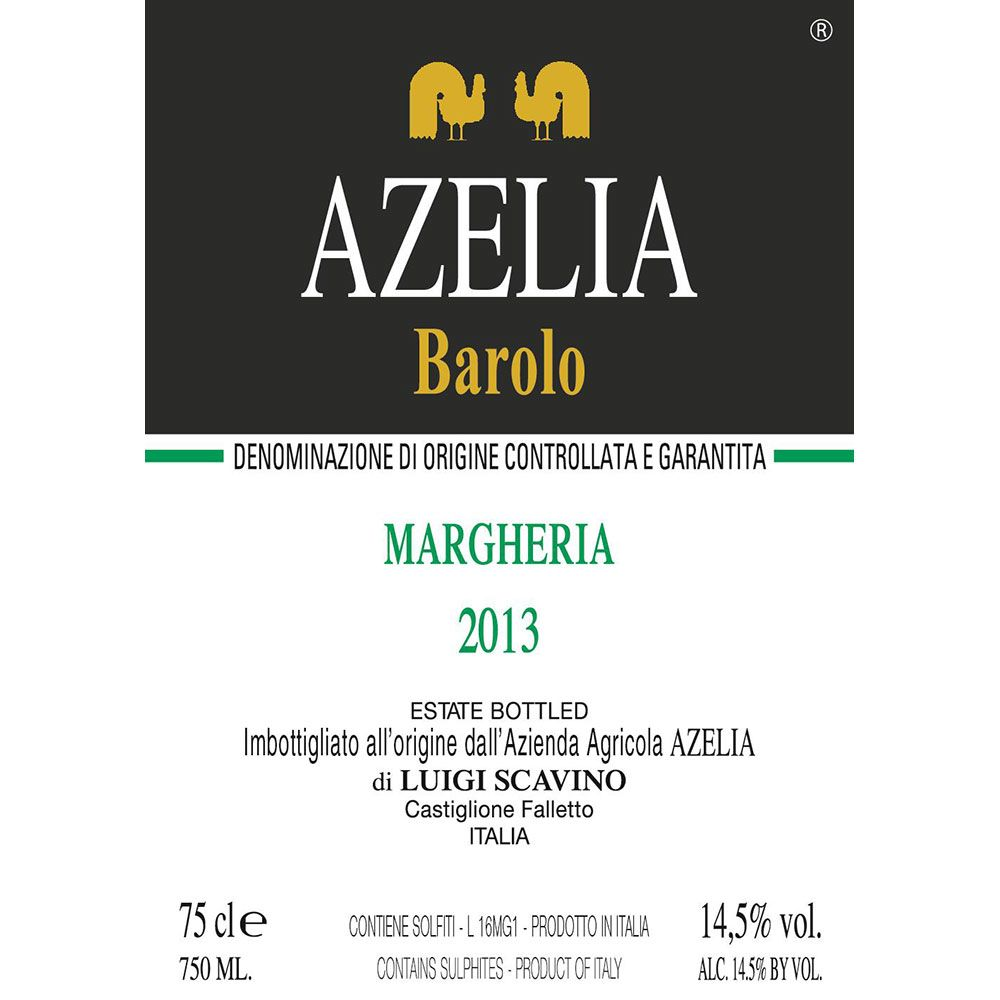 Azelia Margheria Barolo 2013 Front Label