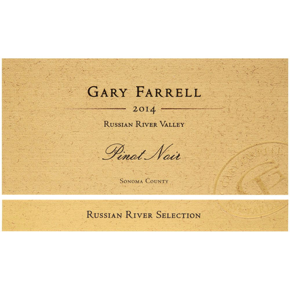 Gary Farrell Russian River Selection Pinot Noir (1.5 Liter Magnum) 2014 Front Label
