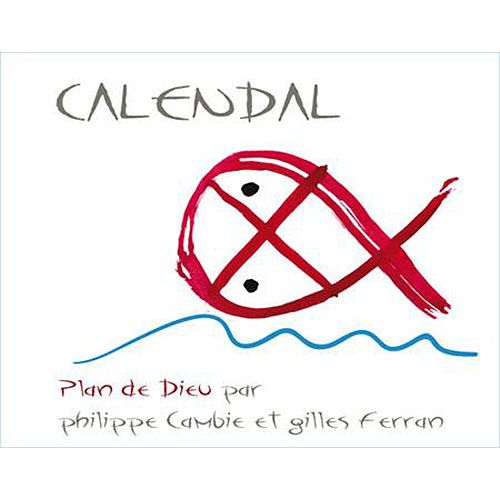 Calendal Cotes du Rhone Villages Plan de Dieu 2013 Front Label