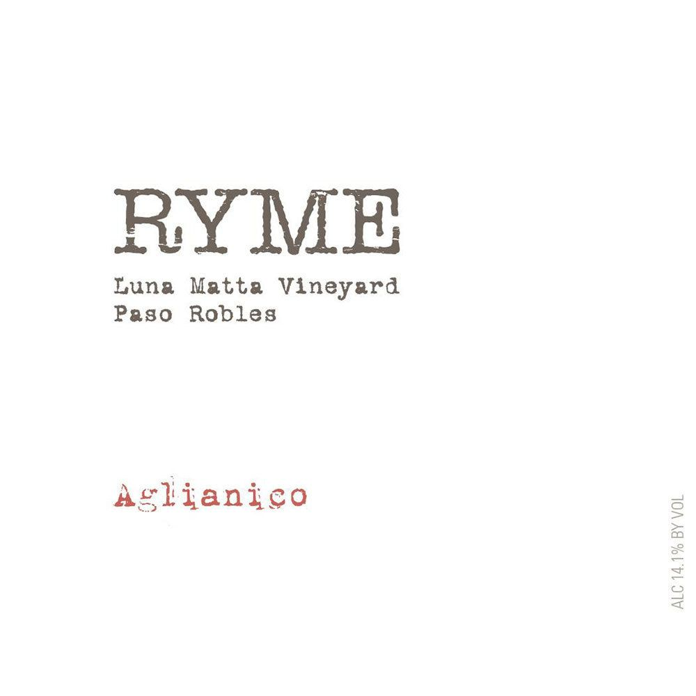 Ryme Luna Matta Vineyard Aglianico 2014 Front Label