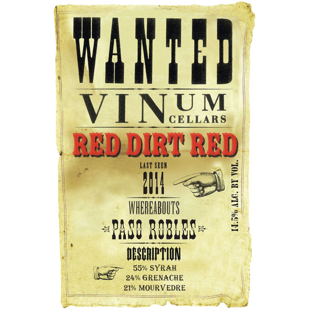 Vinum Cellars Red Dirt Red GSM 2014 Front Label
