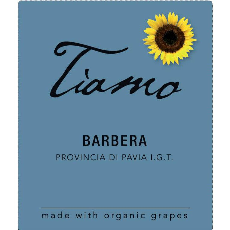 Tiamo Barbera 2016 Front Label
