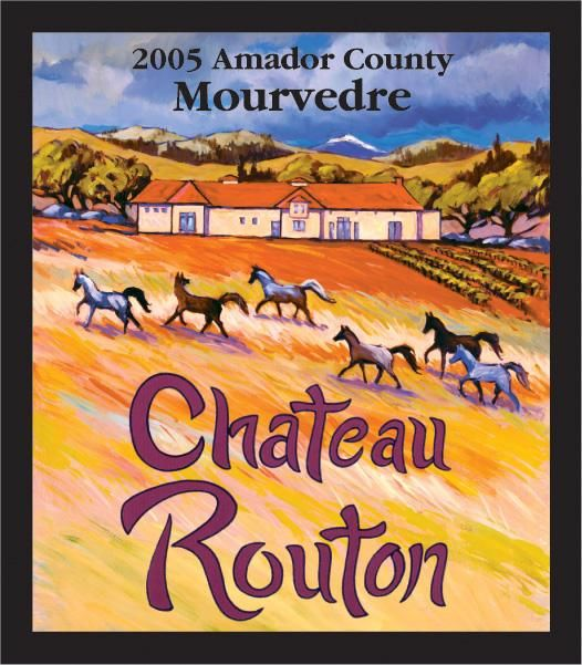Chateau Routon Mourvedre 2005 Front Label