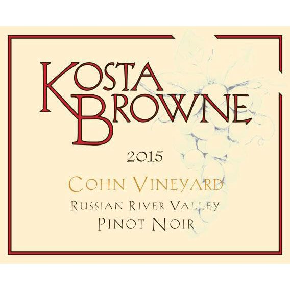 Kosta Browne Cohn Vineyard Pinot Noir 2015 Front Label