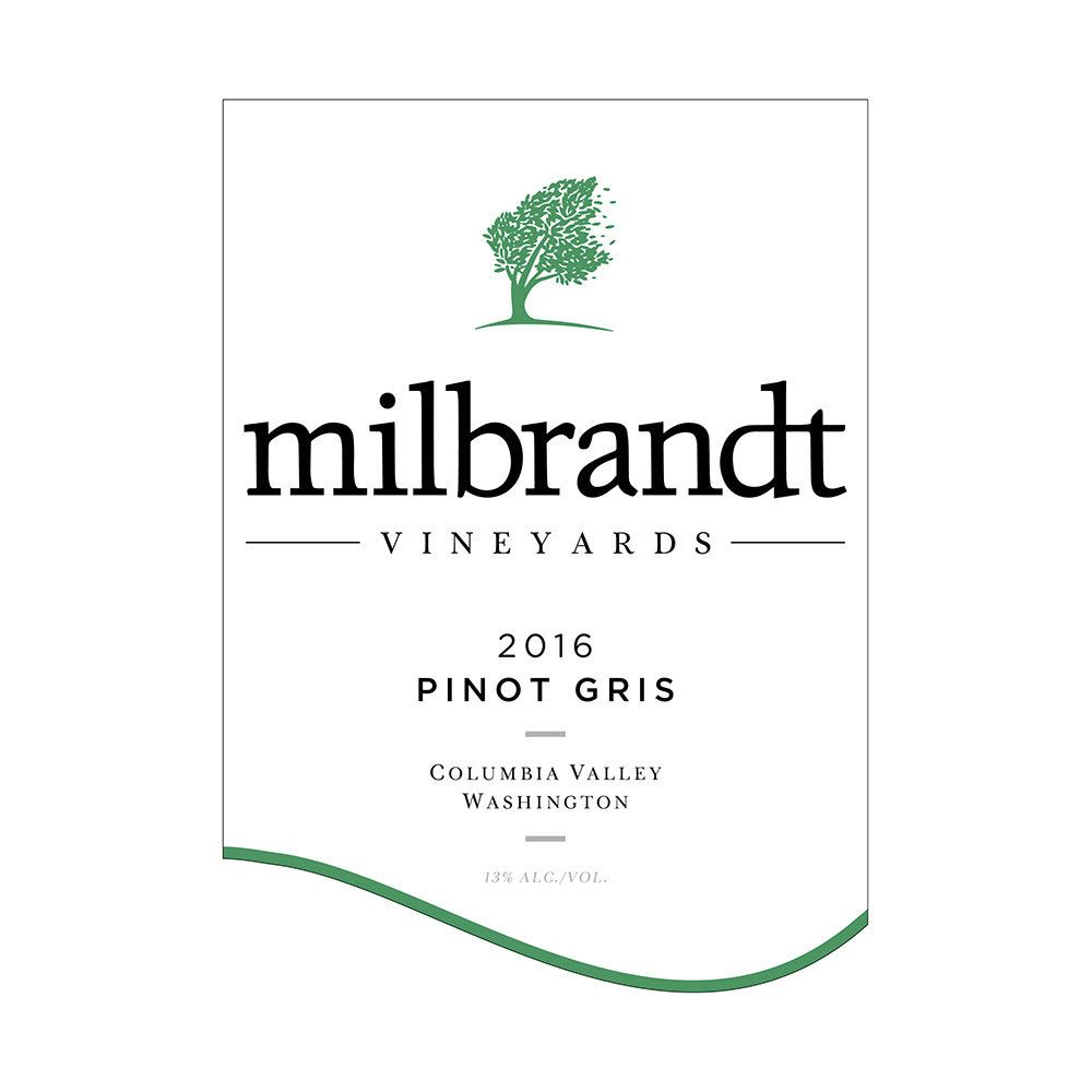 Milbrandt Traditions Pinot Gris 2016 Front Label