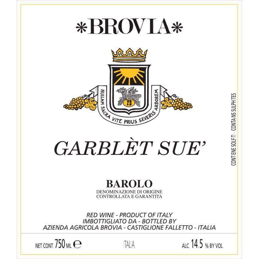Brovia Garblet Sue Barolo 2013 Front Label