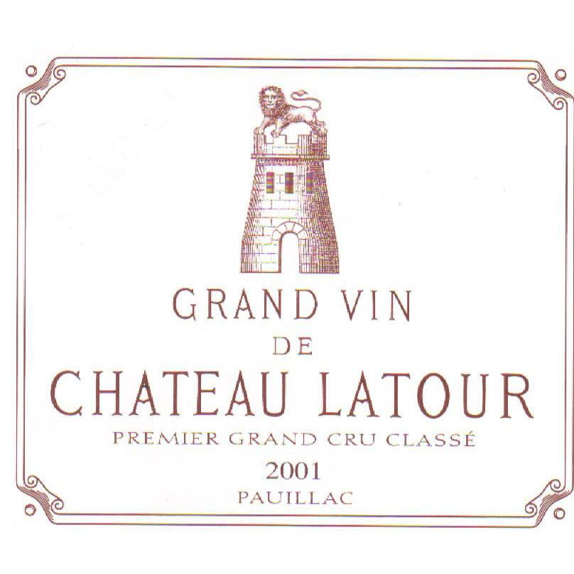 Chateau Latour (3 Liter Bottle) 2001 Front Label