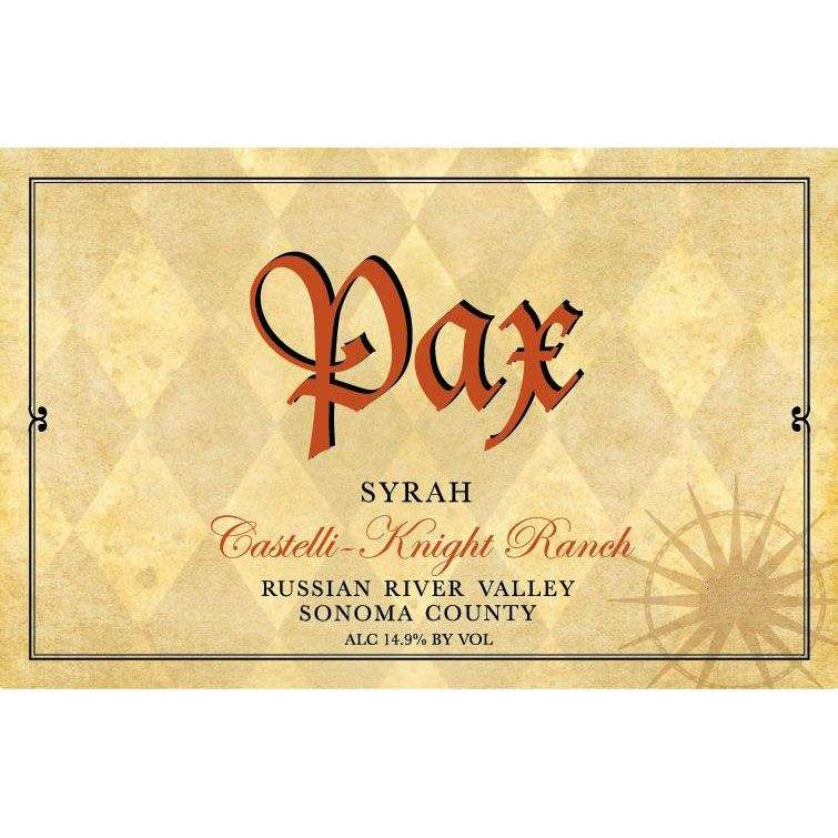 Pax Castelli Knight Ranch Syrah 2003 Front Label