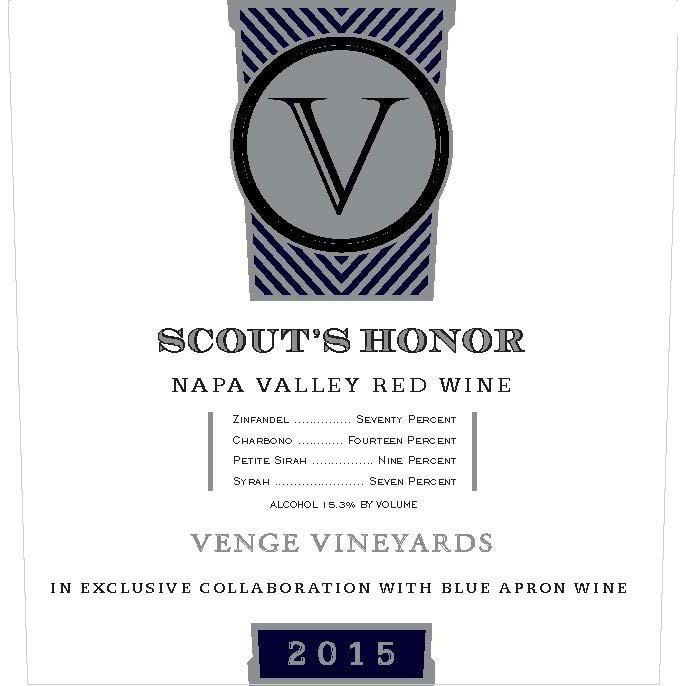 Venge Vineyards Scout's Honor Proprietary Red 2015 Front Label