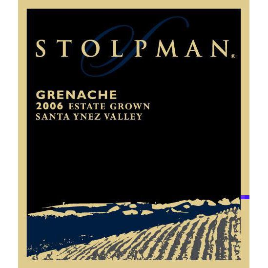 Stolpman Vineyards Estate Grown Grenache 2006 Front Label