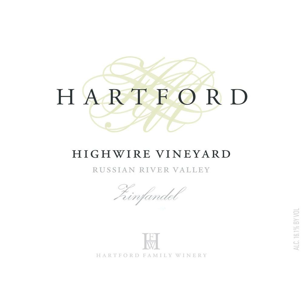 Hartford Highwire Vineyard Zinfandel 2007 Front Label