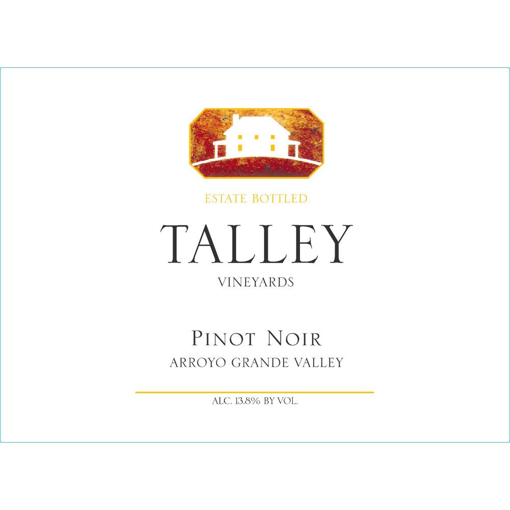 Talley Arroyo Grande Valley Estate Pinot Noir 2015 Front Label