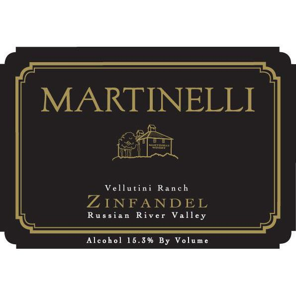 Martinelli Vellutini Ranch Zinfandel 2007 Front Label