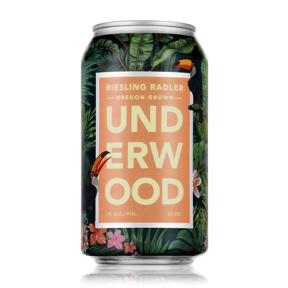 Underwood Cellars Riesling Radler (375ML Wine in a Can) Front Bottle Shot
