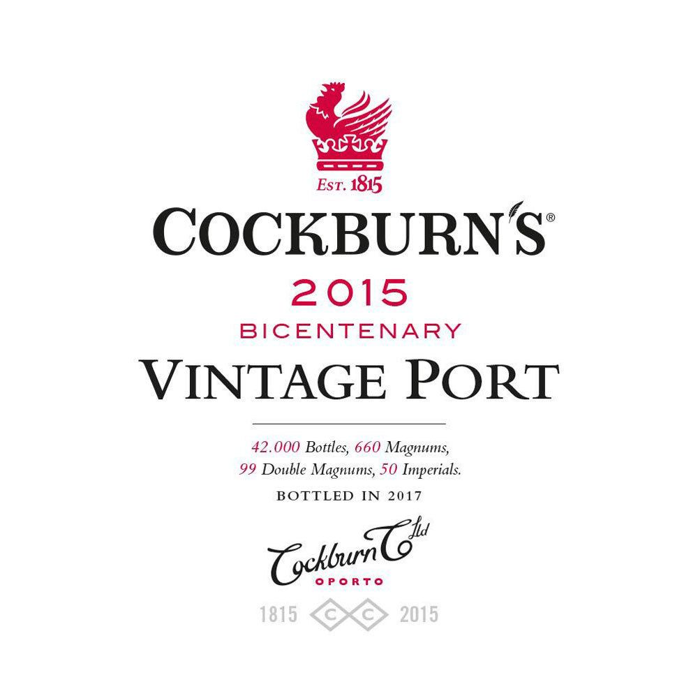 Cockburn's Vintage Port 2015 Front Label