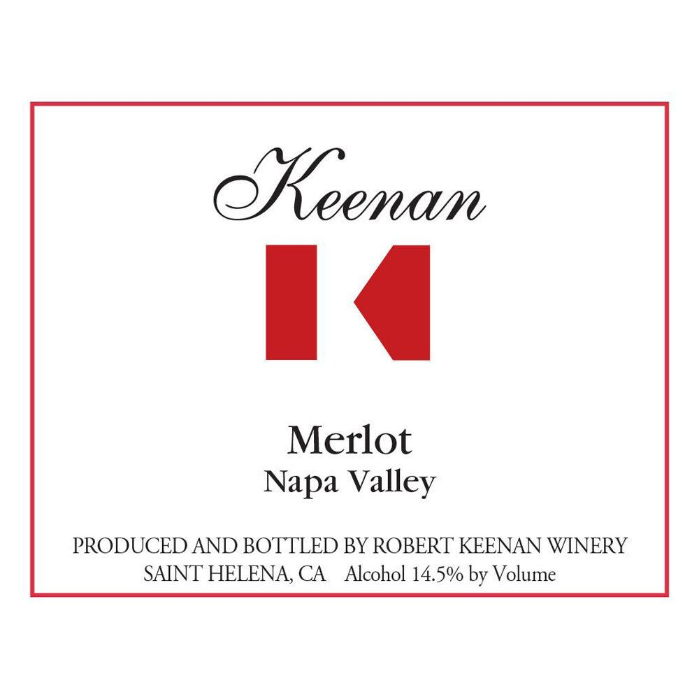 Keenan Napa Valley Merlot 2014 Front Label