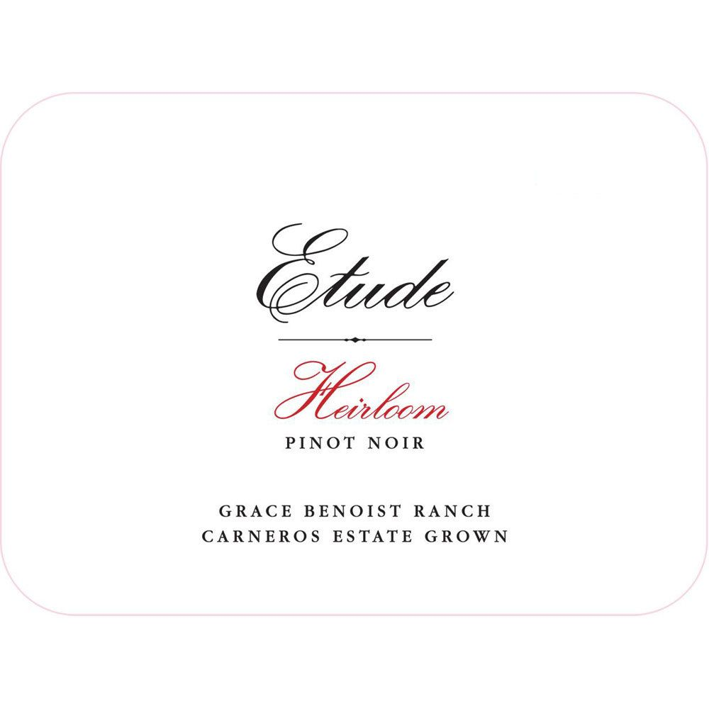 Etude Heirloom Pinot Noir 2014 Front Label